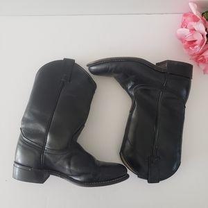 LAREDO Black Leather Women's Western Boots